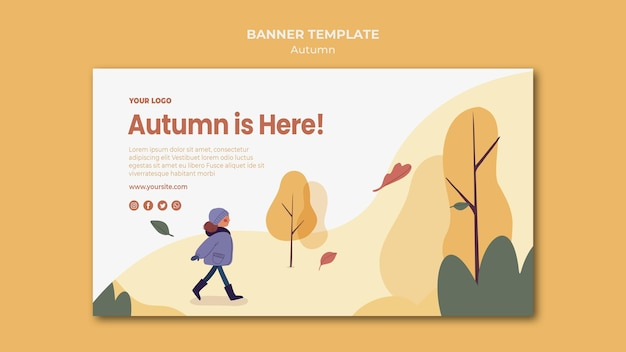 L'automne est ici modèle de bannière