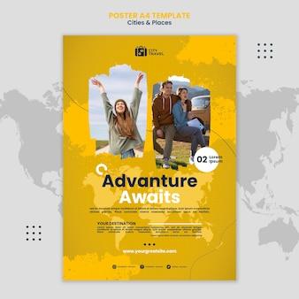 L'aventure attend le modèle d'affiche