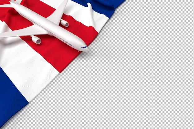 Avion de passagers et drapeau de la thaïlande