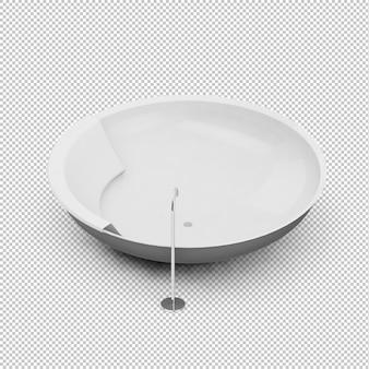 Baignoire isométrique