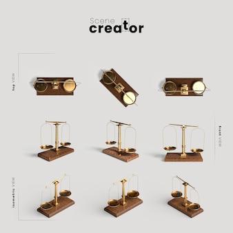 Balance divers angles pour illustrations de créateurs de scènes