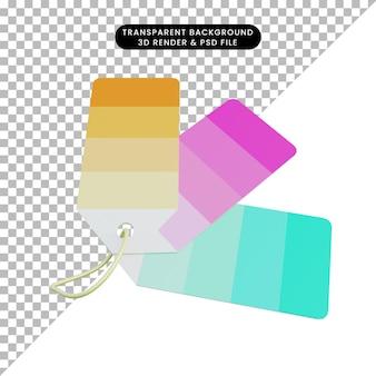 Balise de couleur de dégradé de rendu 3d