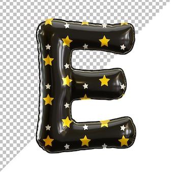Ballon en aluminium alphabet de la lettre e noir pour halloween