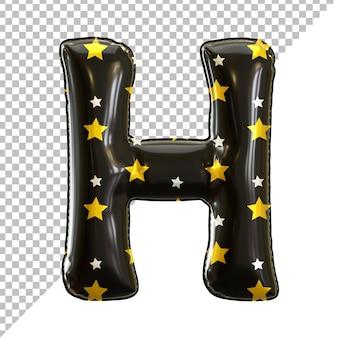 Ballon en aluminium alphabet de la lettre h noir pour halloween