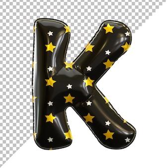Ballon en aluminium alphabet de la lettre k noir pour halloween