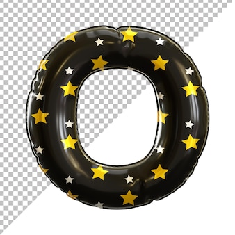 Ballon en aluminium alphabet de la lettre o noir pour halloween