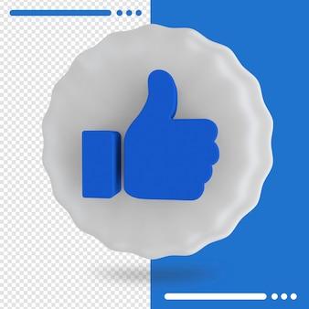 Ballon bleu avec logo de facebook comme dans le rendu 3d