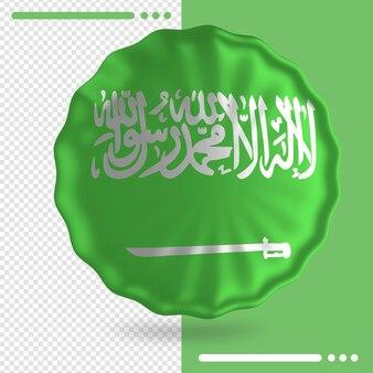 Ballon avec le drapeau de l'arabie saoudite dans le rendu 3d