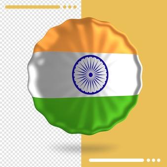 Ballon avec drapeau de l'inde dans le rendu 3d