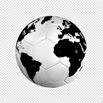 Ballon de football football globe terrestre