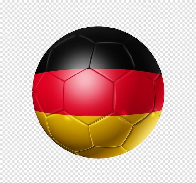 Ballon de football soccer avec le drapeau de l'allemagne