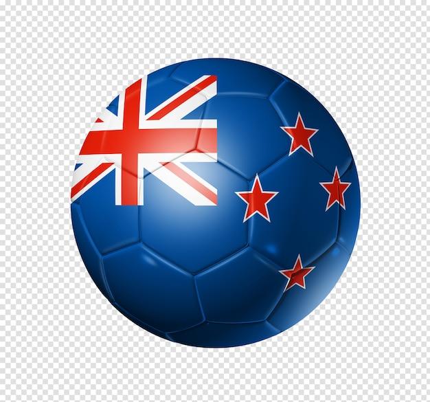Ballon de football soccer avec le drapeau de la nouvelle-zélande