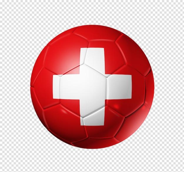 Ballon de football soccer avec drapeau suisse