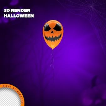 Ballon hallowen rendu 3d pour la composition