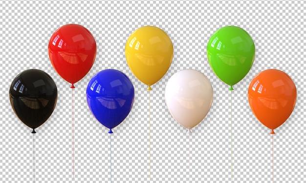 Ballon réaliste de rendu 3d isolé
