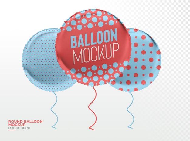 Ballon réaliste rond rendu 3d