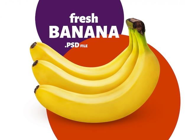 Banane, isolé, blanc, fond