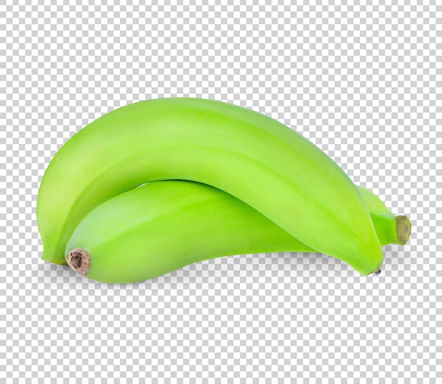 Banane verte isolée psd premium