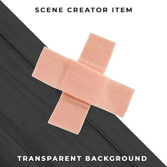 Bandage adhésif isolé avec un tracé de détourage