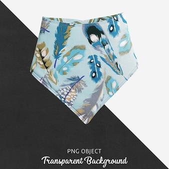 Bandana bébé plumes bleu transparent