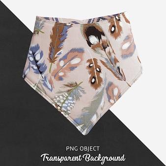 Bandana à motifs de plumes colorées transparentes pour bébé ou enfants