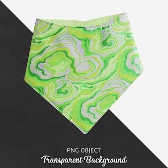 Bandana à motifs vert pour bébé ou enfant sur fond transparent