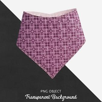 Bandana à motifs violet pour bébé ou enfants sur fond transparent