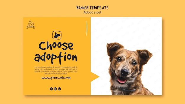 Bannière avec adoption d'animaux