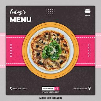 Bannière alimentaire culinaire sur les médias sociaux
