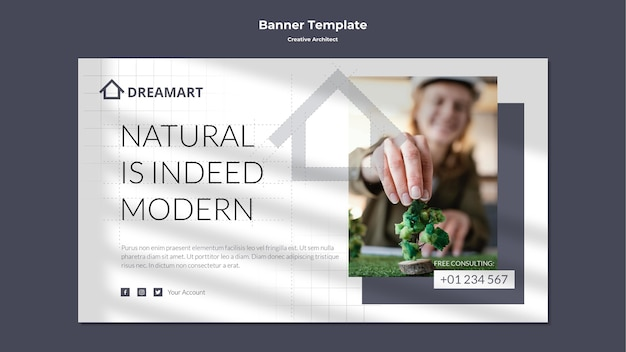 Bannière d'architecte créatif