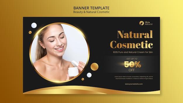 Bannière de beauté et de cosmétiques naturels