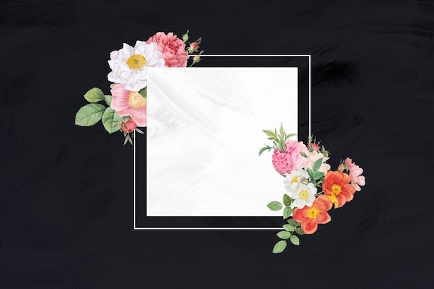 Bannière de cadre de bouquet de fleurs