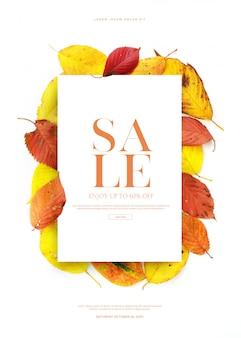 Bannière ou carte de vente d'automne