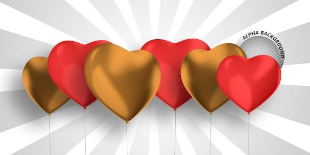 Bannière coeur 3d