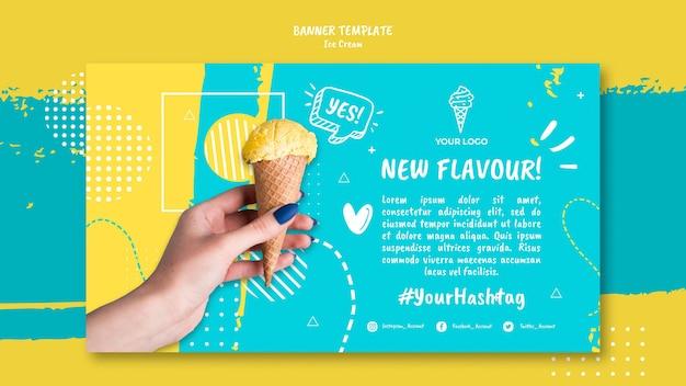 Bannière avec concept de crème glacée