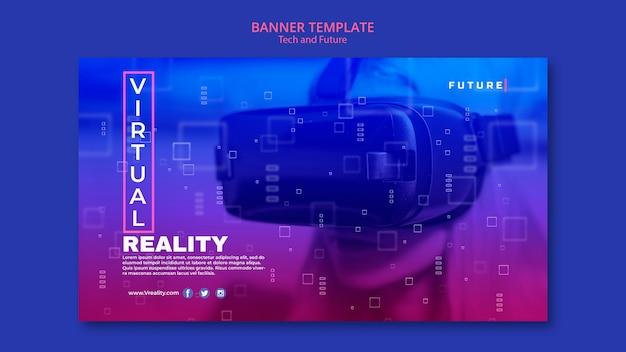 Bannière de concept technologique et futur