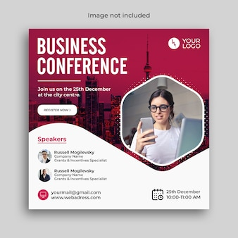 Bannière de conférence webinaire sur le marketing numérique ou publication sur les médias sociaux d'entreprise