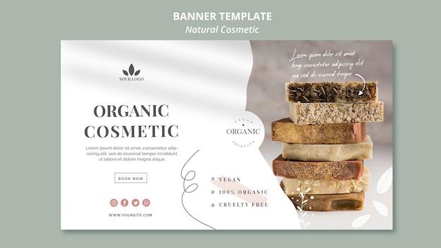 Bannière de cosmétiques naturels