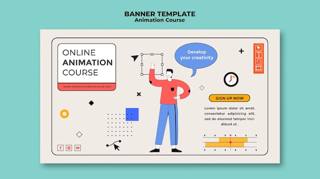 Bannière de cours d'animation