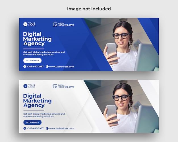 Bannière de couverture facebook marketing numérique