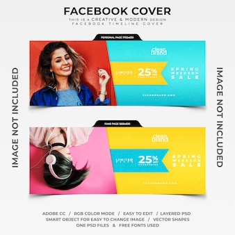 Bannière de couverture facebook timeline vente week-end