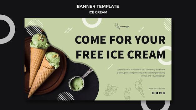 Bannière avec crème glacée