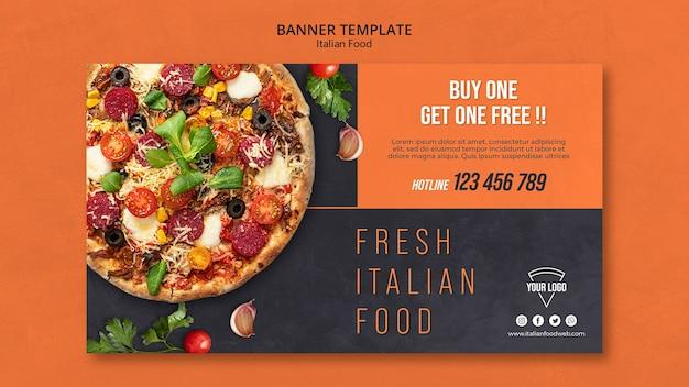 Bannière de cuisine italienne