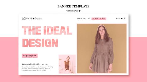 Bannière de design de mode