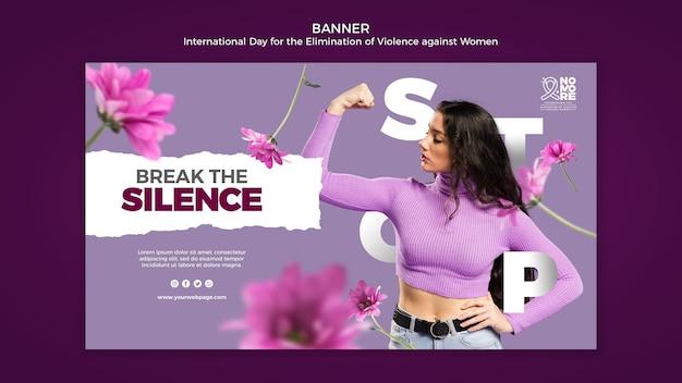 Bannière d'élimination de la violence contre les femmes