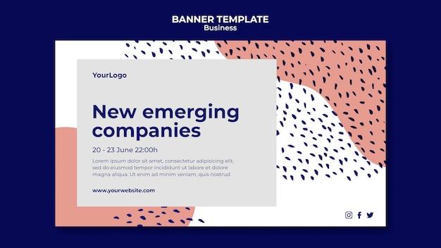 Bannière d'entreprises émergentes