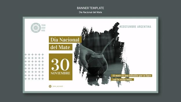 Bannière de l'événement national argentine mate drink