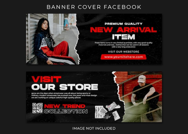 Bannière facebook couverture modèle de mode urbaine