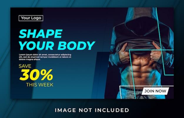 Bannière façonne votre modèle de corps