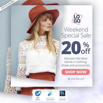 Bannière fashion instagram ads